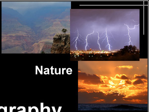 Nature and Landscape Photography Images: pictures of lightnings, images of sunsets and views